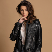 Europe new leather jacket women's pu motorcycle jacket