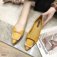 High Quality Women Flat Pump Shoes Large Size Casual Flats PU Leather Women Flat Shoes