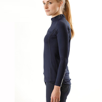High Quality Ladies Horse Racing Riding Long Sleeve Polo Shirt Rider Show Shirts