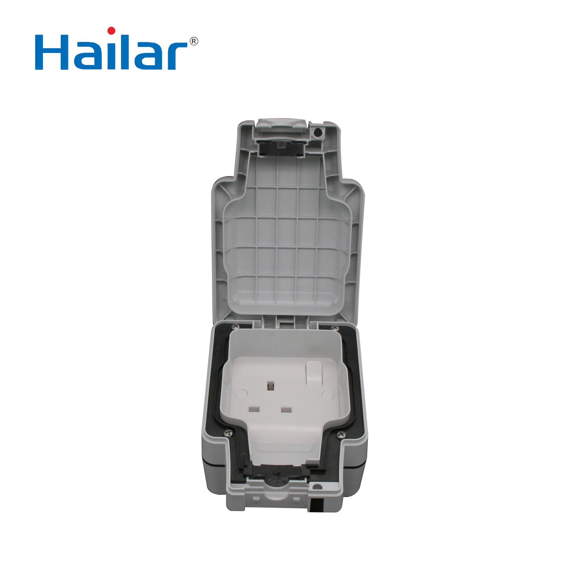 Hailar Uk Weatherproof Socket Ip66 Outdoor Waterproof