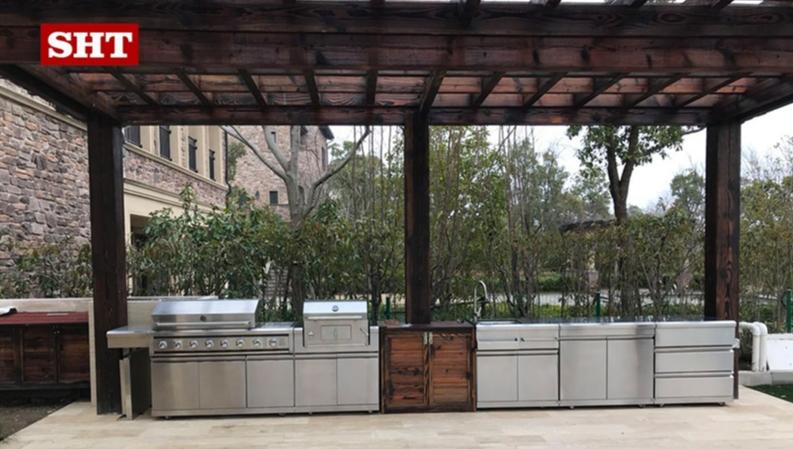 Personalizzato moderna cucina all'aperto grande barbecue a gas del carbone di legna barbecue grill produttore per la vendita