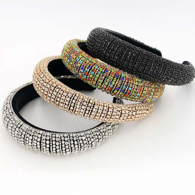 In Stock 2020 Bling Designer Crystal Diamond Women Rhinestone <strong>Headbands</strong>