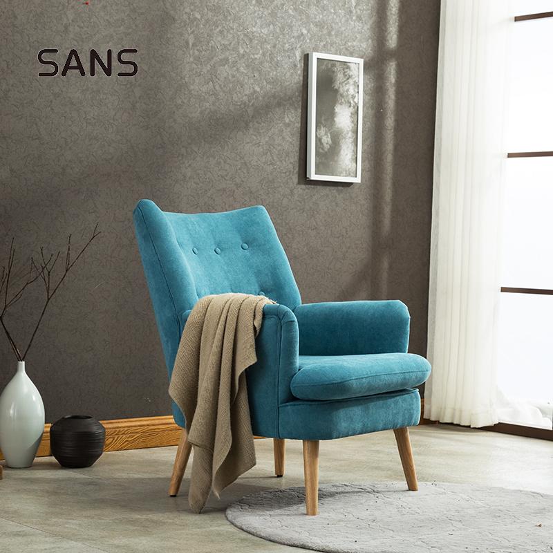 Moderno salón de botón de tela-Tuft de silla de acento para sala