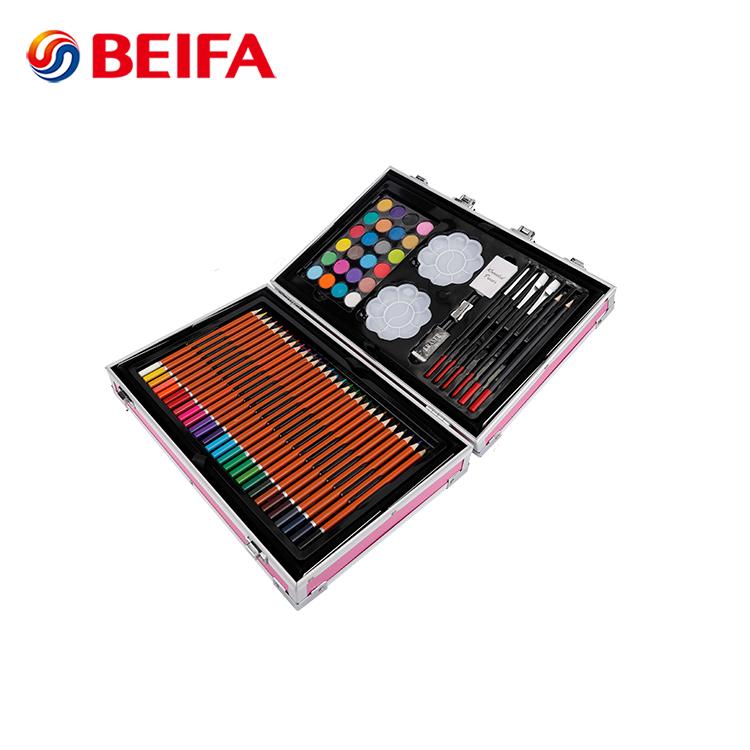 Blot 145PCS Aluminum Box Packing Water Color Oil Pastel Color Pencil Drawing Set For Children, School Kids Art Set