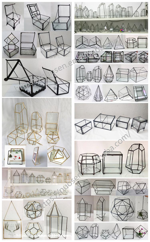 Directly Factory Price Cheap Wholesale hot sale clear geometric glass terrarium