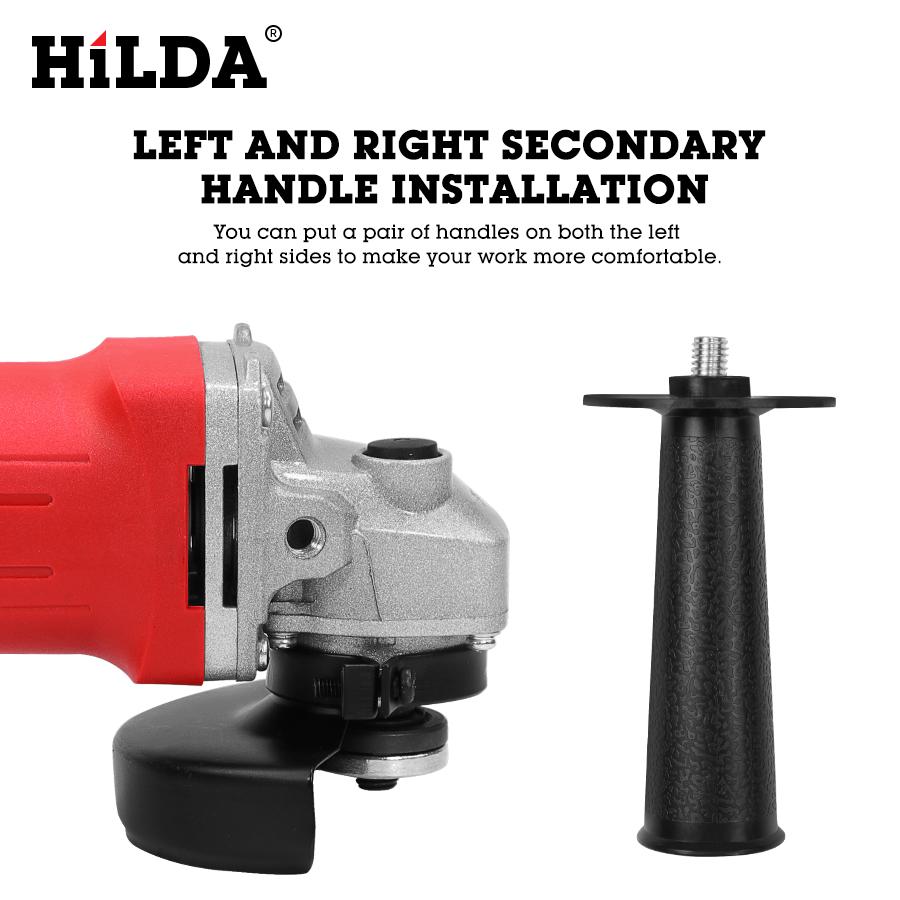 Hilda - Mini-meuleuse d'angle professionnelle, 100mm, appareil de perçage électrique robuste