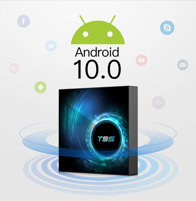 Ашер Новое поступление Allwinner H616 Android 10,0 Поддержка 6K Android Tv Box T95