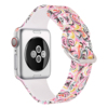 peacock flower silicone watch band for apple watch