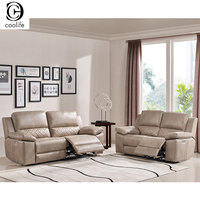 HAOYU Import Motorizaed Recliner Living Room Leather Sofa set Modern Sectional Electric Reclining Philippines with Coffee Table