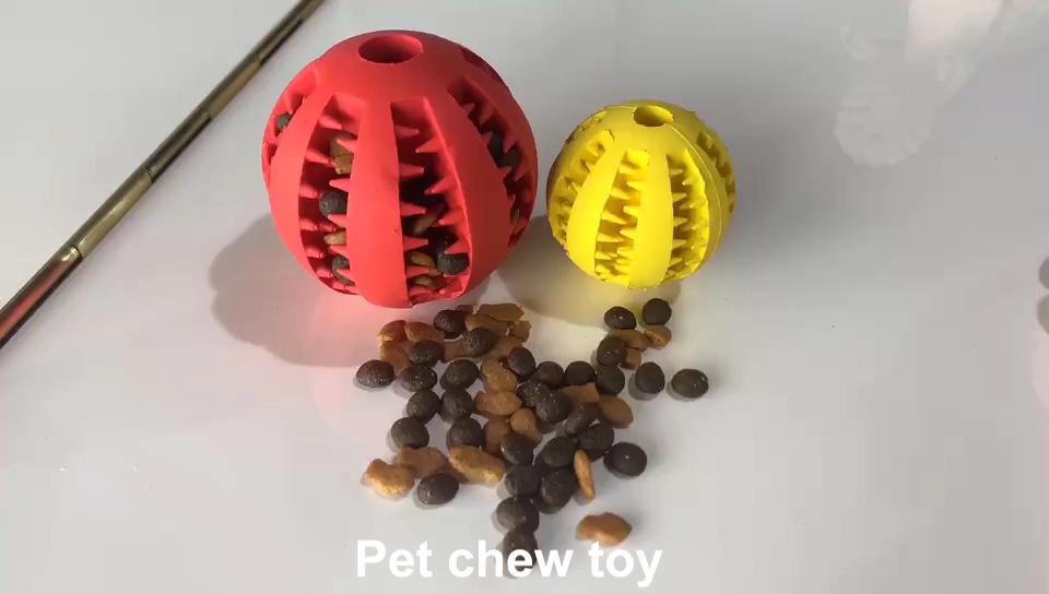 Haustier Gummi Leck Lebensmittel Ball Wassermelone Kauen Ball Hund Spielzeug Ausbildung Bälle Hund Zähne Reiniger Interaktive Feed Pet Spielzeug