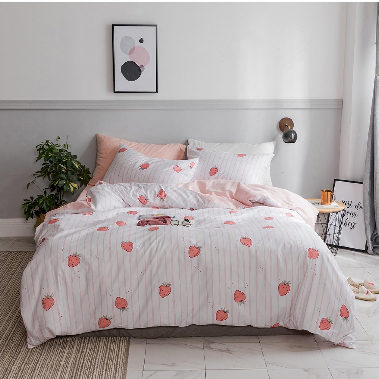 Hersteller California King Tiefen Schlaf Designer Marke 3 Pcs 100% Baumwolle Druck Langlebig Bettbezug Bettwäsche Set