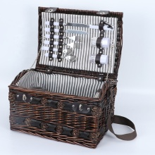<span class=keywords><strong>Gras</strong></span> und wicker picknick korb set für 2 person