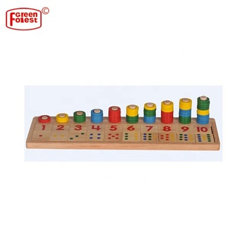 Montessori Materials wooden math toys Learning To Count Numbers Digital Shape Match Learning education Toy for Children