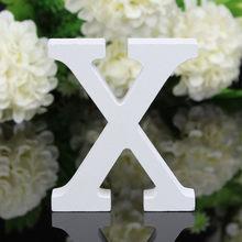 Высокое качество, деревянные буквы, Белый Алфавит, свадьба, день рождения, вечеринка, домашний декор, сделай сам, Бесплатная комбинация, Деко...(Китай)