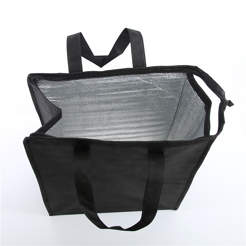 Eco-friendly Non-woven take away thermal cooler bag for bulk sale