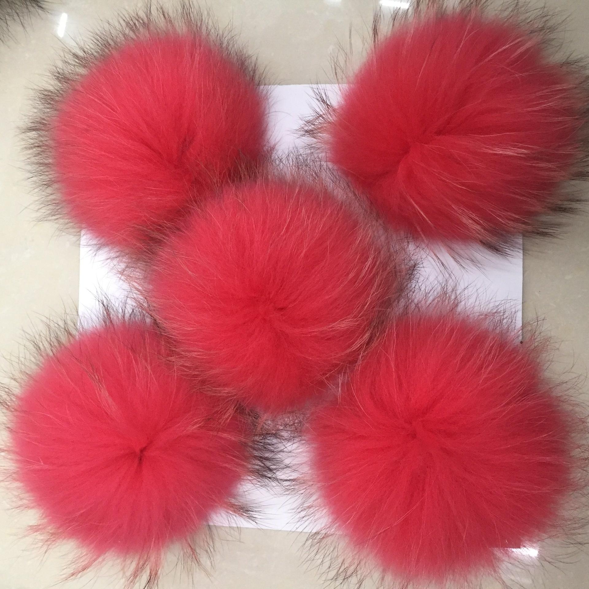 Big Size 15cm DIY Real Fox Fur Pompoms Raccoon Fur Pom Poms Balls Natural Fur Pompon For Hats Bags Shoes Scarves Accessories