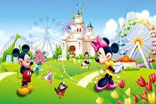 Обои для детской комнаты, 3D мультфильм, медведь, животное, розовый, принцесса, комната, мальчики, девочка, спальня, Настенный декор, фото, стен...(Китай)