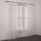 Yongshun new design transparent voile sheer curtains window fashion
