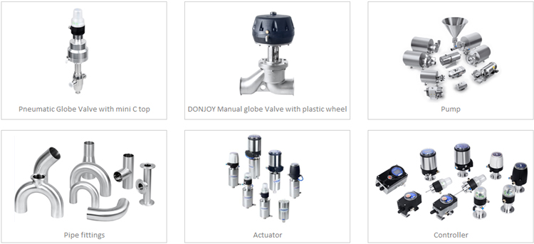 DONJOY Pneumatic Globe Valve with plastic actuator