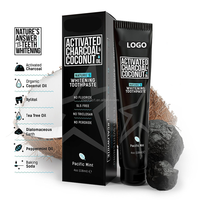 Hot sell all natural ingredients organic non fluoride coconut oil activated coconut charcoal toothpaste