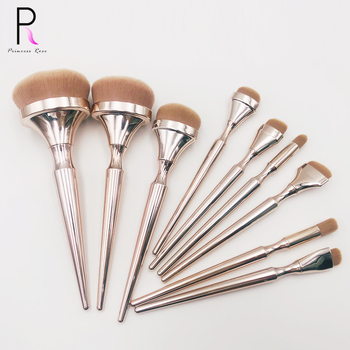 Hot sale new private label 9pcs luxury creative golden crown high quality soft synthetic bristle makeup brush set maquillaje