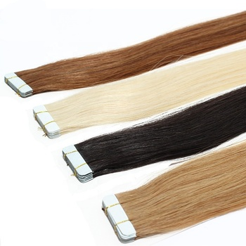 Double Sided Grade 8A 9A 10A Peruvian Hair Human Natural Black Tape Hair Extensions Human Hair Extensions Tape In
