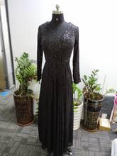 Вечерние платья с блестками It's Yiiya K027 элегантное вечернее платье размера плюс с v-образным вырезом вечернее платье трапециевидной формы с дл...(Китай)