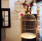 Birdcage Wholesale Customized Iron Bird Cage Decorative Ornaments Golden Birdcage