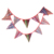 Fabric material decorative string bunting flag