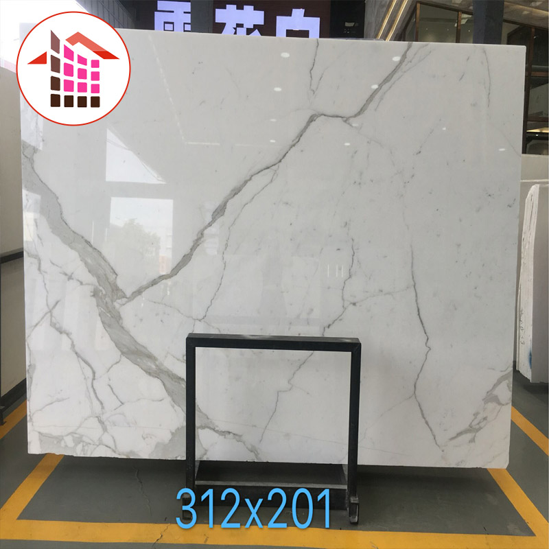 Natural Italy calacatta white marble