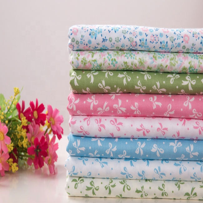 Factory sale directly cheap 100% cotton printing fabric printed fabric for making bedsheet
