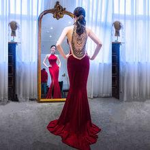 Китайское сексуальное платье-русалка, стразы, восточные вечерние женские платья Cheongsam для выступлений на сцене, Qipao, элегантные платья знаме...(Китай)