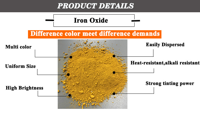 ISO Factory supply directly iron oxide red and yellow pigments for making paint/concrete,lowest price iron oxide pigment