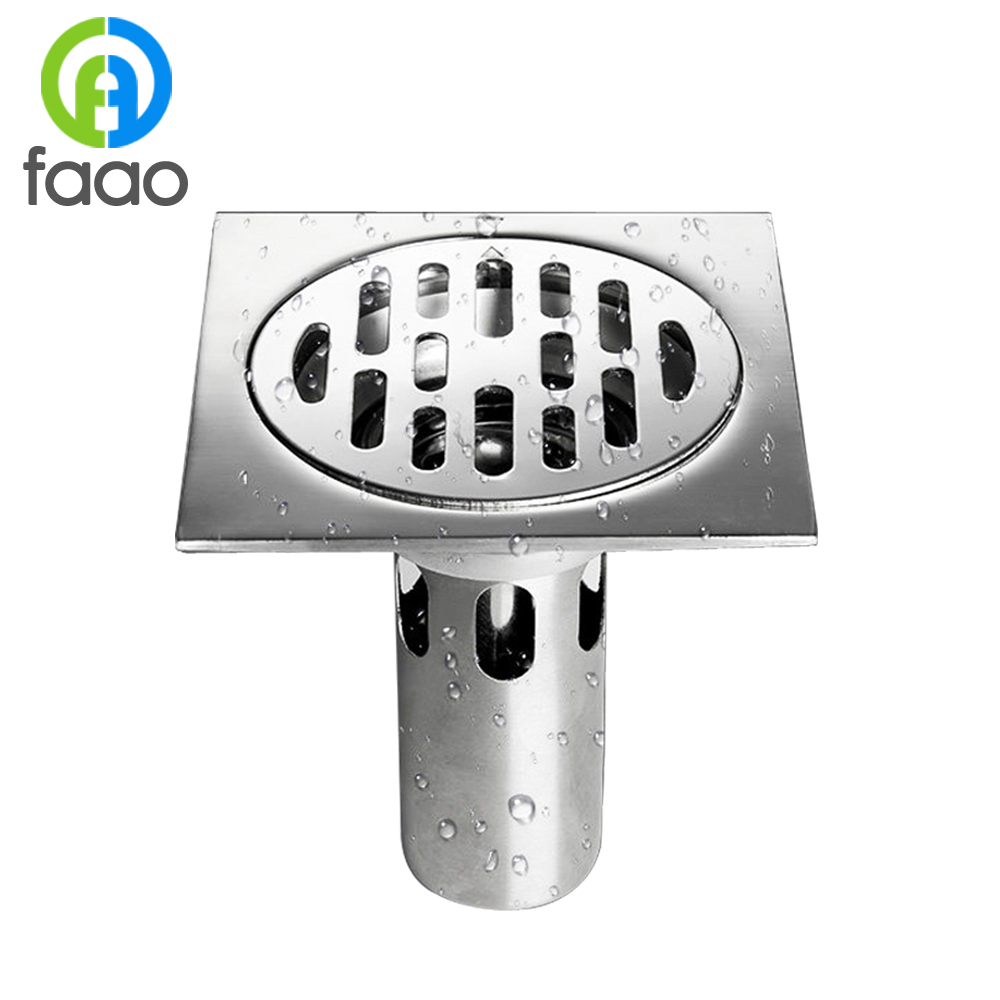 FAAO square stainless steel bathroom sanitary floor <strong>drain</strong>