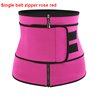 Rose red single belt zipper