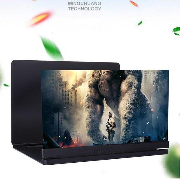 14 Inch Desktop Folding HD Video Holder Stand 3D Enlarged Mobile Phone Screen Magnifier Amplifier