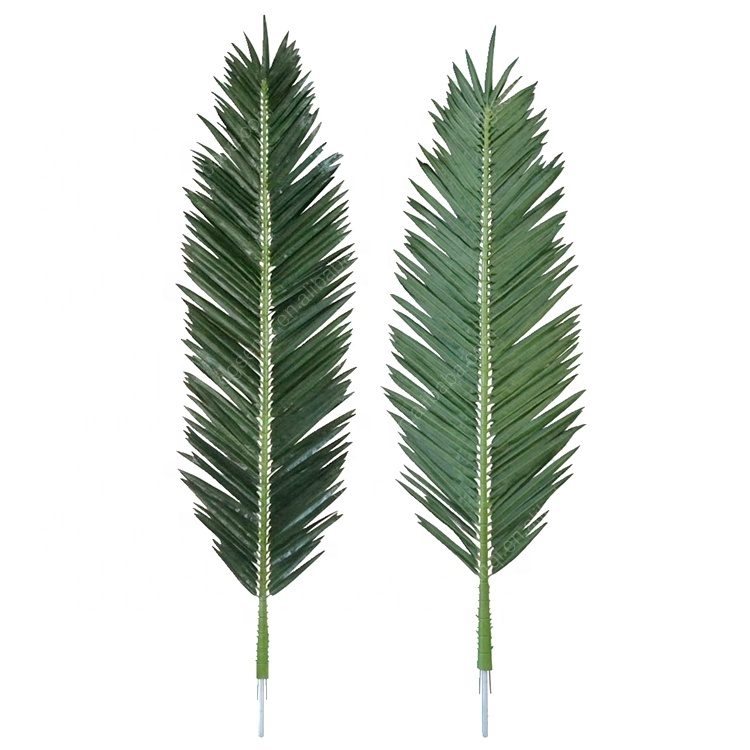 Highly Simulation <strong>Artificial</strong> <strong>Leaves</strong> Hotel Home Garden Ornamental Accessories Plastic <strong>Artificial</strong> Palm <strong>Leaves</strong>