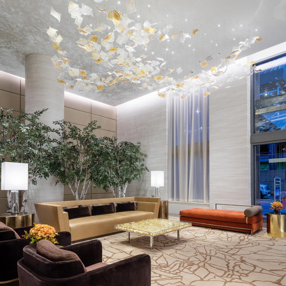 Modern ballroom glass firefly chandelier light
