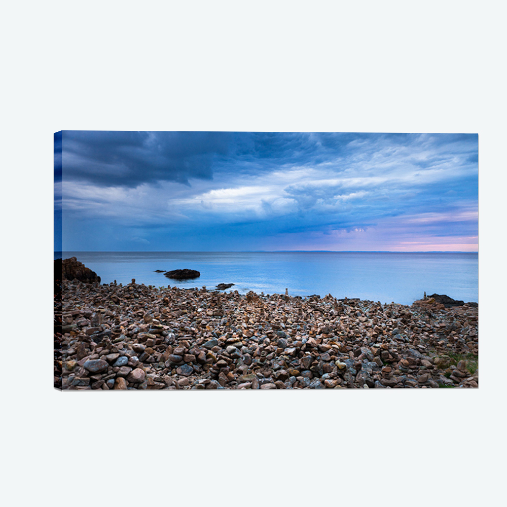 Decorative Wall Hanging Digital <strong>Pictures</strong> Printing Blue Sea Canvas Print