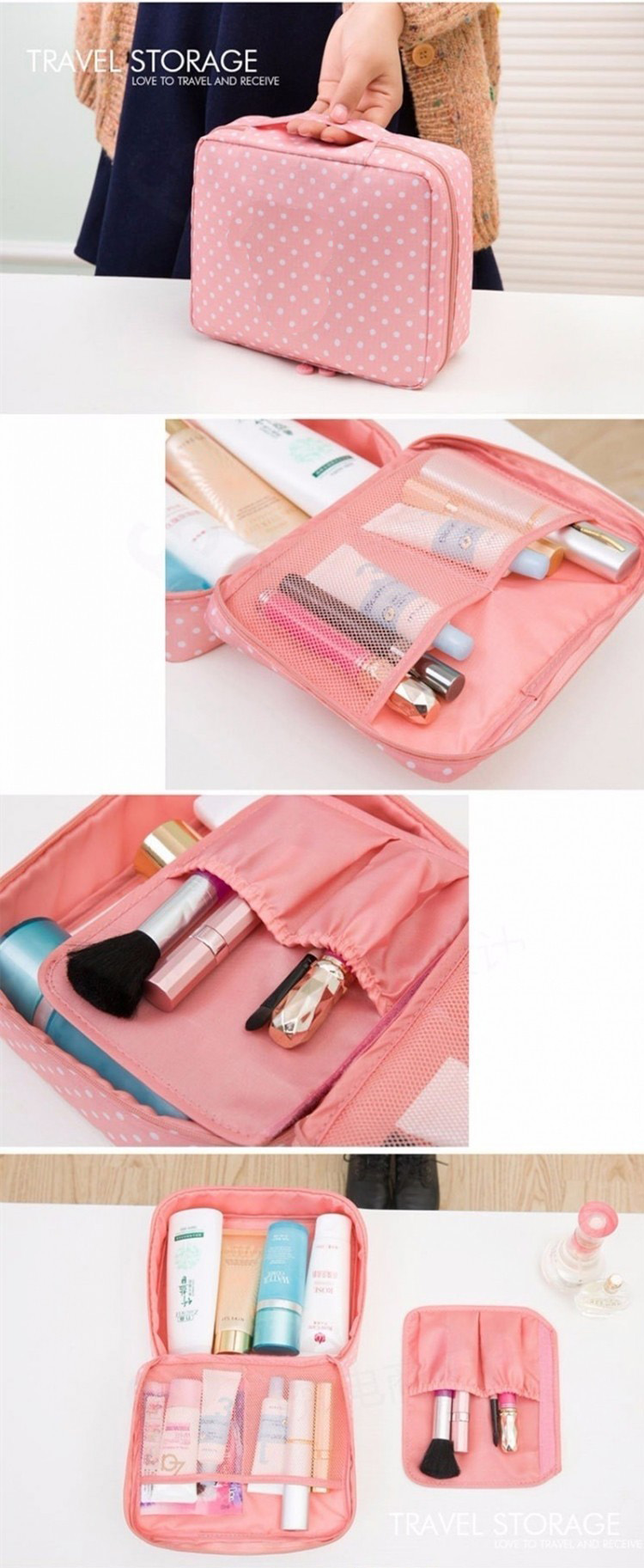 product-GF bags-New fashion Women Cosmetic Bag Multi function Organizer Waterproof Portable Makeup B-1