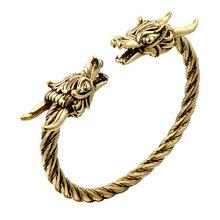 Cxwind викинговые браслеты с волками животных для женщин и мужчин, модные витые аксессуары, Ретро браслеты с драконом, браслеты на запястье(Китай)