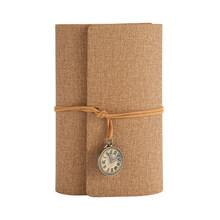 Блокнот А6 с отрывным листом Ретро повязкой карманные часы креативная ручная учетная книга студенческий дневник записная книжка s(Китай)