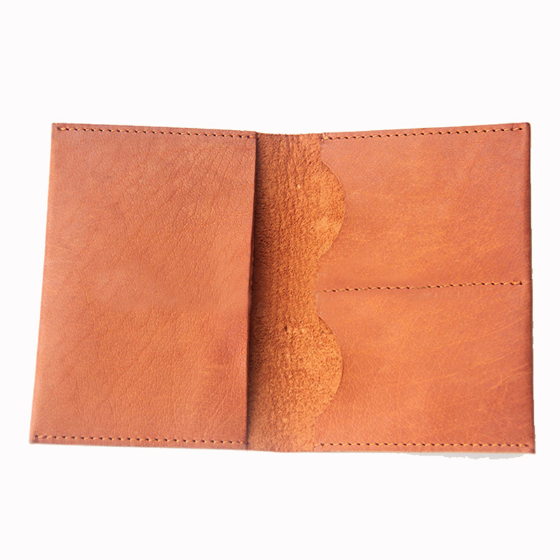 New high quality and practical leather passport holder, vegetable tanned wallet