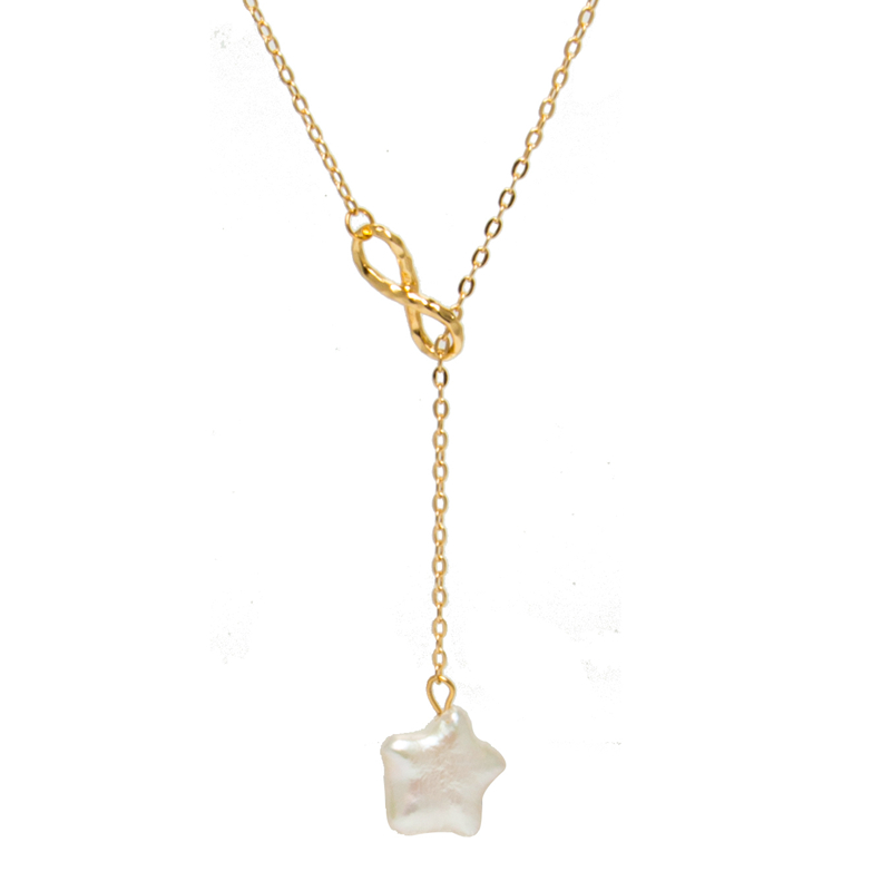 Factory Sale Five-Pointed Star Pendant 14K Gold Plated Pearl Fashion Jewelry Necklace With Low Price