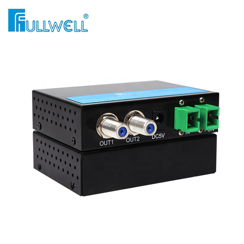 Fullwell FTTH CATV Epon Gpon Gepon WDM Optical Fiber Onu Receiver Mini Optical Node