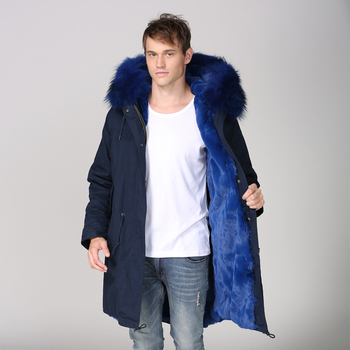 Wholesale Price Snow Wear Fur Hooded Overcoat Handsome Outwear Custom Liner Parka Coat For Male