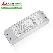 12v 24v 60w CV dimmable led driver ETL work with dimmer led downlight