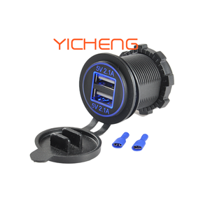 12V 24V 4.2A Bus Dual USB Socket Car Phone Charger