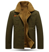 Wholesale latest fashion styles solid color fleece men jacket winter wears for men