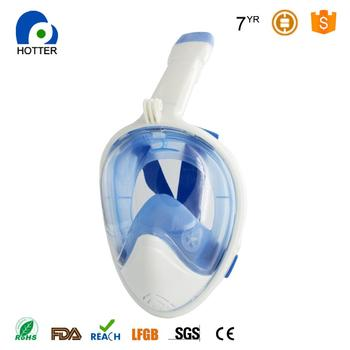 Full Face Snorkel Mask for Youth and Adult 180 View Full Face and anti-fog anti-leak Design For Snorkeling